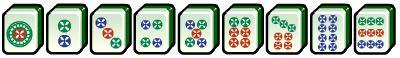 mahjong circle suit tiles